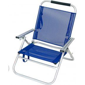 Campus Καρέκλα Παραλίας Μπλέ Αλουμινίου Με Μπράτσα 3 Θέσεων