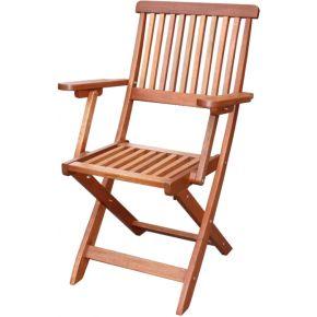 Campus Καρέκλα Πτυσσόμενη Με Μπράτσα Meranti