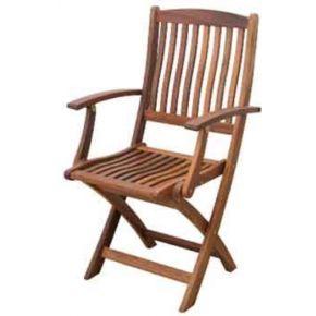 Campus Ξύλινη Καρέκλα Πτυσσόμενη Με Μπράτσα Ακακία