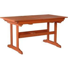 Campus Ξύλινο Τραπέζι Ορθογώνιο Με Προσθήκη Και Ρυθμιστή Ύψους Meranti