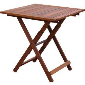 Campus Ξύλινο Τραπέζι Τετράγωνο Πτυσσόμενο Meranti 75x75cm