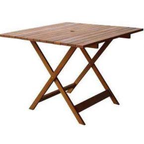 Campus Ξύλινο Τραπέζι Τετράγωνο Meranti 90x90cm