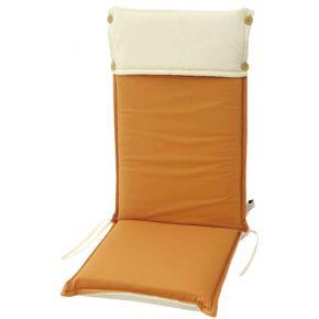 Campus Μαξιλάρι Για Καρέκλα Με Ψηλή Πλάτη Διπλής Όψης Πορτοκαλί Εκρού