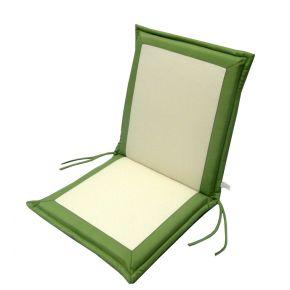 Campus Μαξιλάρι Για Καρέκλα Με Χαμηλή Πλάτη Διπλής Όψεως Εκρού - Χακί