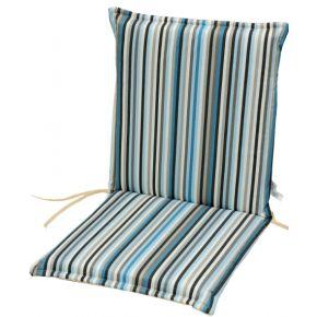 Campus Μαξιλάρι Για Καρέκλα Με Χαμηλή Πλάτη Διπλής Όψης Γαλάζιο Ριγέ