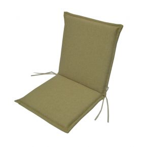 Campus Μαξιλάρι Για Καρέκλα Με Χαμηλή Πλάτη Διπλής Όψεως Καφέ - Μπεζ