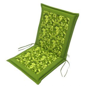 Campus Μαξιλάρι Για Καρέκλα Με Χαμηλή Πλάτη Διπλής Όψης Λαδί Floral
