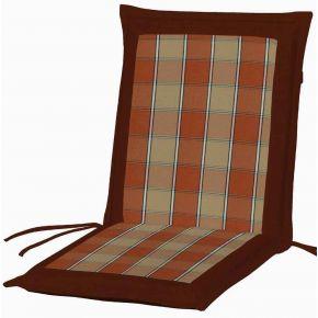Campus Μαξιλάρι Για Καρέκλα Με Χαμηλή Πλάτη Διπλής Όψης Μπορντό Καρό
