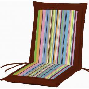 Campus Μαξιλάρι Για Καρέκλα Με Χαμηλή Πλάτη Διπλής Όψης Μπορντό Ριγέ