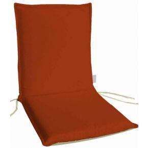 Campus Μαξιλάρι Για Καρέκλα Με Χαμηλή Πλάτη Διπλής Όψης Πορτοκαλί Εκρού