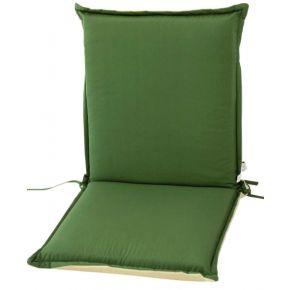 Campus Μαξιλάρι Για Καρέκλα Με Χαμηλή Πλάτη Διπλής Όψεως Πράσινο Εκρού