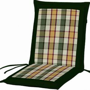 Campus Μαξιλάρι Για Καρέκλα Με Χαμηλή Πλάτη Διπλής Όψης Πράσινο Καρό