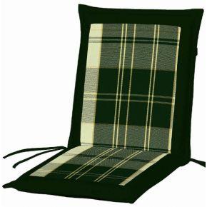 Campus Μαξιλάρι Για Καρέκλα Με Χαμηλή Πλάτη Διπλής Όψης Πράσινο Καρό - Πράσινο