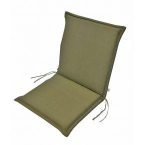 Campus Μαξιλάρι Για Καρέκλα Με Χαμηλή Πλάτη Διπλής Όψης Χακί
