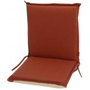 Campus Μαξιλάρι Για Καρέκλα Με Χαμηλή Πλάτη Διπλής Όψεως Μπεζ Κόκκινο