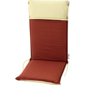 Campus Μαξιλάρι Για Καρέκλα Με Ψηλή Πλάτη Διπλής Όψης Κεραμιδί Εκρού