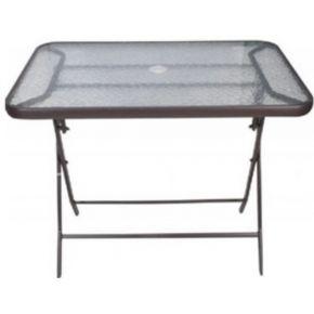 Campus Μεταλλικό Τραπέζι Αναδιπλούμενο Ανθρακί 120x70x70cm