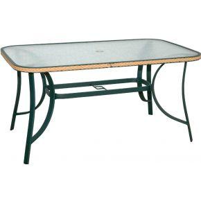 Campus Τραπέζι Κήπου Αλουμινίου Με Γυαλί 120*70cm