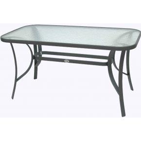 Campus Τραπέζι Κήπου Αλουμινίου Με Γυαλί Ανθρακί 160cm