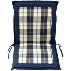 Campus Μαξιλάρι Για Καρέκλα Με Χαμηλή Πλάτη Διπλής Όψης Μπλε Καρό