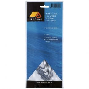 Coi Leisure Πασαλάκια Steel Tent Pegs 225x6.3mm 10 Τμχ