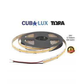 Cubalux LED Ταινία TΩRA 12W/m Μονόχρωμη Dotless 24V IP20 504 Chip/m 5m