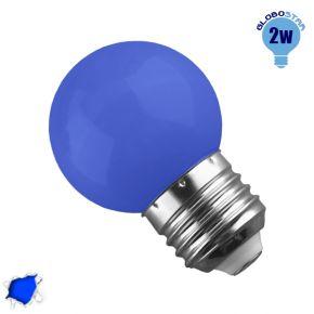 Mini Γλόμπος LED G45 2 Watt Μπλε