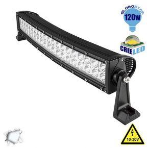 Μπάρα LED Curved 120W CREE Combo 10-30v DC Ψυχρό Λευκό
