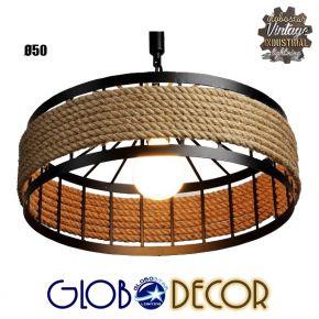 Vintage Κρεμαστό Φωτιστικό Οροφής Poli Globostar 1XE27 Διάμετρος 50cm