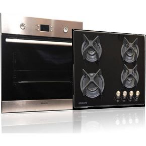 Davoline Φούρνος Εντοιχιζόμενος OBL 8000 + Κεραμική Εστία Γκαζιού GOG 400 BL