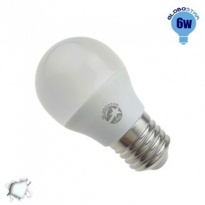 Γλομπάκι LED G45 με βάση E27 GloboStar 6 Watt 230v Ψυχρό