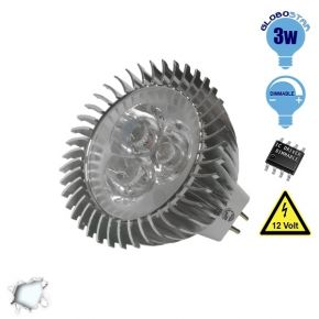 LED Spot MR16 3x1 Watt 12 Volt Ψυχρό Λευκό