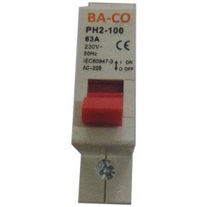 BAS Μονοπολικός Διακόπτης Ράγας 63A 230/400V