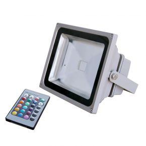 Dio LED Προβολέας 30W RGB με Τηλεχειριστήριο