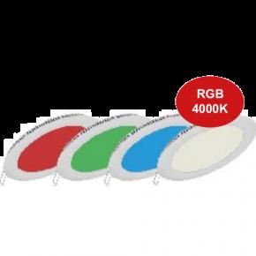 Dio Στρογγυλό LED Slim Panel 20W Smart Λευκό Πλαίσιο