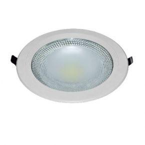 Dio Χωνευτό Στρογγυλό LED Panel 20W Epistar LUCE