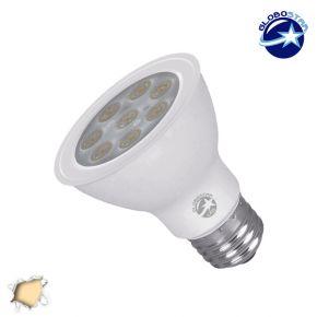Λαμπτήρας LED PAR20 με Βάση E27 Globostar 8 Watt 230v Θερμό