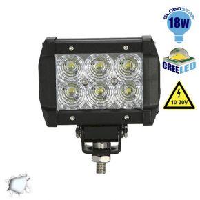 Mini Μπάρα Φωτισμού LED 18 Watt 10-30 Volt DC Ψυχρό Λευκό