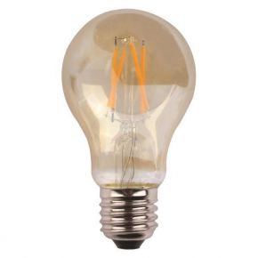 Eurolamp LED Λάμπα Κοινή Crossed Filament 7W Gold Class Dimmable
