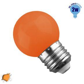 Mini Γλόμπος LED G45 2 Watt Πορτοκαλί Light