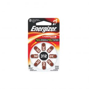 Energizer Μπαταρίες Ακουστικών Βαρηκοΐας σε Blister Καφέ ΖΑ312