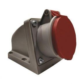 Eurolamp Πρίζα Επίτοιχη Βιομηχανικού Τύπου 5x16A 380-415V IP44 Κόκκινο-Γκρί