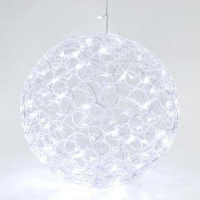 Eurolamp 100 LED Ακρυλική Μπάλα Με Μετασχηματιστή 40cm IP44