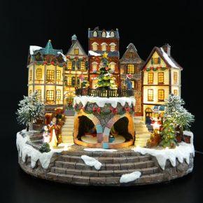 Eurolamp 18 LED Χριστουγεννιάτικο Γραφικό Χωριό