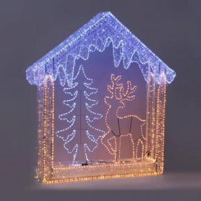 Eurolamp 960 LED Επαγγελματικό Σχέδιο 3D Χριστουγεννιάτικη Παράσταση 180x162x52cm IP44