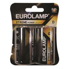 Eurolamp Αλκαλική Μπαταρία Extreme D (LR20) 2ΤΜΧ 1.5V