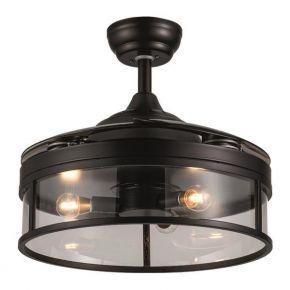 Eurolamp Ανεμιστήρας Οροφής 3XE14 60W Με Ανοιγοκλειόμενες Φτερωτές