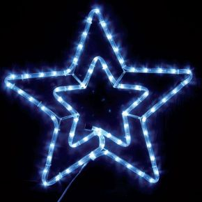 Eurolamp Αστέρι Διπλό Λευκό LED IP44 με Πρόγραμμα