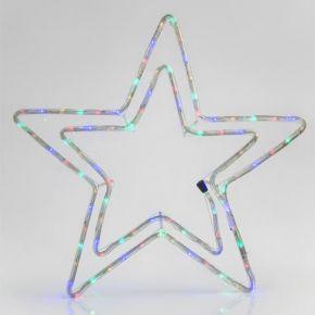 Eurolamp Αστέρι Διπλό Χρωματιστό LED IP44 με Πρόγραμμα