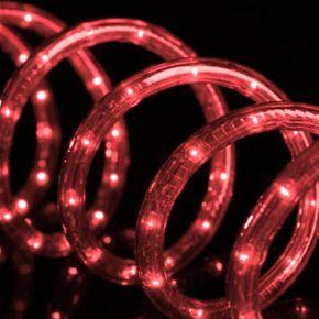 Eurolamp Φωτοσωλήνας LED Δικάναλος Κόκκινος IP44 50m
